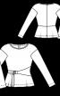 Пуловер з вузькими рукавами і зав'язкою - фото 3