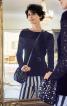 Пуловер приталеного крою з ажурними рукавами - фото 1