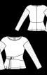 Пуловер приталеного крою з ажурними рукавами - фото 3