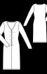 Сукня зі зборками у швах і V-подібним вирізом - фото 3