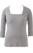 Пуловер з прямокутним вирізом горловини - фото 2