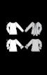 Пуловер обтислого крою з оборками на рукавах - фото 3