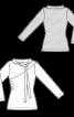 Пуловер із зав'язкою на комірі - фото 3