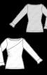 Пуловер вузького крою зі зборками у шві - фото 3