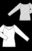 Пуловер реглан з широким вирізом горловини - фото 3