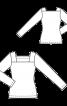 Пуловер-тельняшка с вырезом каре - фото 3