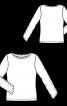 Пуловер з призбореними вузькими рукавами - фото 3