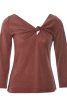 Пуловер з оригінальною драпіровкою - фото 2