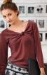 Пуловер з оригінальною драпіровкою - фото 1
