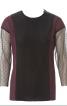 Пуловер приталеного силуету з рукавами 3/4 - фото 2