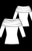 Пуловер приталеного крою з коміром-хомутом - фото 3