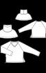 Пуловер реглан зі знімним коміром гольф - фото 3
