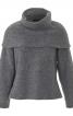 Пуловер реглан зі знімним коміром гольф - фото 2
