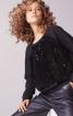 Пуловер реглан з трикотажу з пайєтками - фото 1