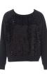 Пуловер реглан з трикотажу з пайєтками - фото 2