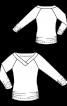 Пуловер приталенного силуэта с широкой планкой на вырезе - фото 3
