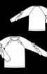 Пуловер прямого крою з воланами - фото 3