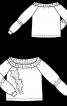 Пуловер реглан з аплікацією - фото 3