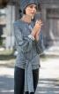 Пуловер з рукавами реглан і зав'язками - фото 1