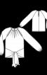 Пуловер з рукавами реглан і зав'язками - фото 3