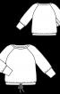 Пуловер із широкими манжетами на рукавах реглан - фото 3