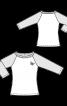 Пуловер реглан у бейсбольному стилі - фото 3