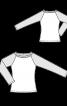 Класичний лонгслів із рукавами реглан - фото 3