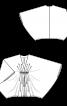 Пуловер широкого крою з рукавами «летюча миша» - фото 3