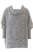 Пуловер широкий із суцільнокроєним коміром - фото 2