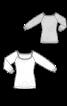 Блуза трикотажна з широким вирізом горловини - фото 3