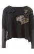 Пуловер широкий з вузькими рукавами - фото 2