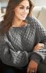 Пуловер з манжетами і поясом - фото 1