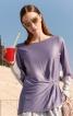 Пуловер з асиметричним низом і драпіровками - фото 1