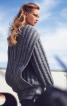 Пуловер з коміром-шарфом - фото 1