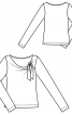 Пуловер приталеного крою з драпіровкою - фото 3