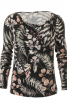 Пуловер приталеного крою з драпіровкою - фото 2
