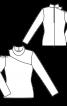 Пуловер з відкритим плечем і застібкою на спині - фото 3