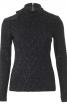 Пуловер з відкритим плечем і застібкою на спині - фото 2