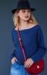 Пуловер з широким вирізом горловини - фото 1