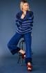 Пуловер реглан з максі-коміром гольф - фото 1