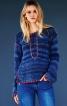 Пуловер в'язаний і з вишивкою - фото 1