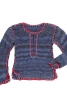 Пуловер в'язаний і з вишивкою - фото 2