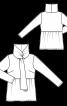 Пуловер із баскою і коміром-шарфом - фото 3