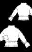 Пуловер з баскою і оборками на рукавах - фото 3
