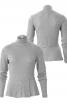 Пуловер з коміром-гольфом і баскою - фото 2