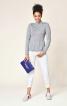 Пуловер з коміром-гольфом і баскою - фото 1