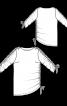 Пуловер з вирізом-човником і драпіровками - фото 3
