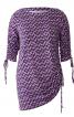 Пуловер прямого крою з драпіровками - фото 2