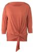 Пуловер прямого крою з драпіровкою - фото 2