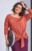 Пуловер прямого крою з драпіровкою - фото 1